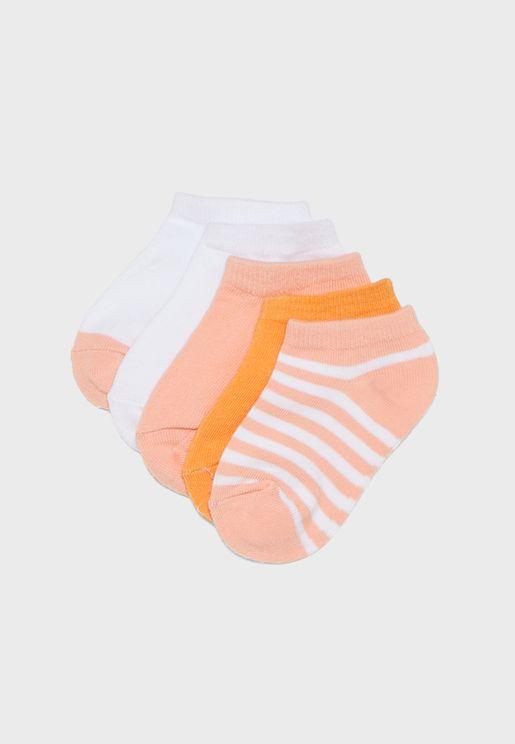 Kids 5 Pack Ankle Socks