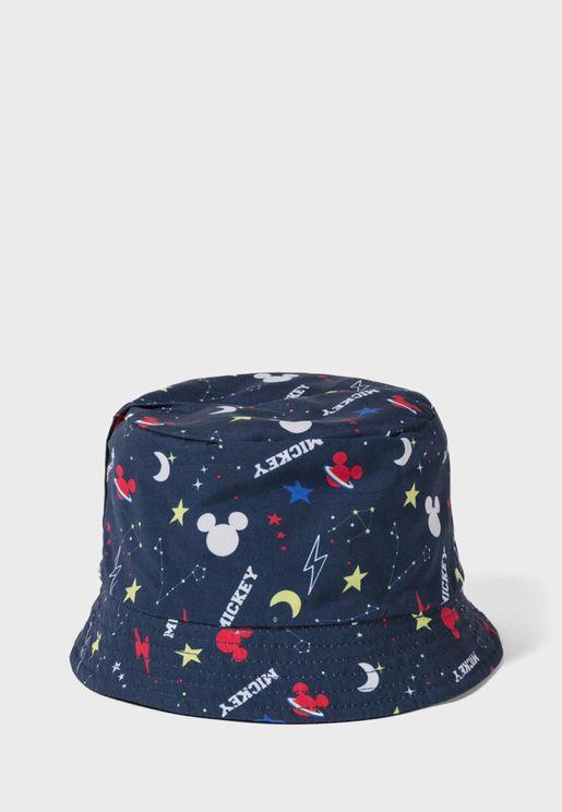 قبعة مطبعة للاطفال