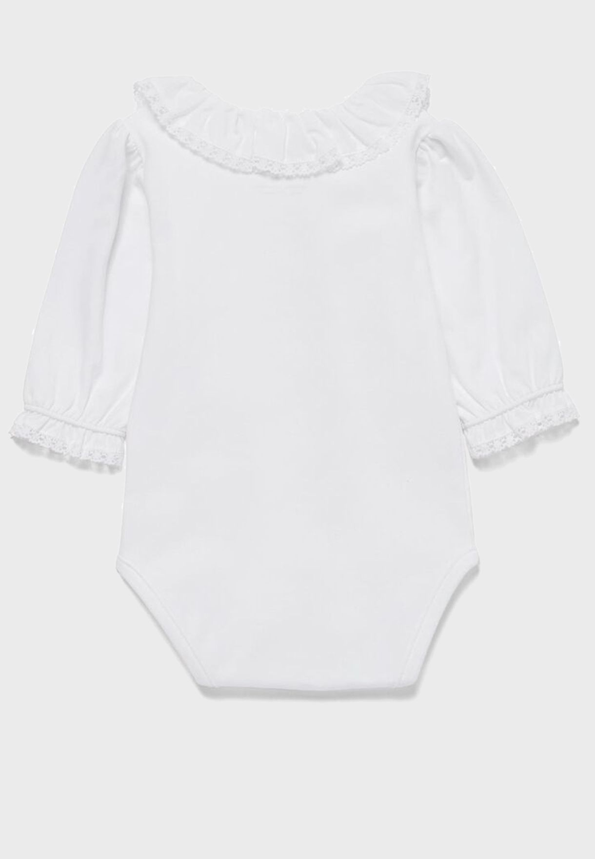 Infant  Ruffle Sleeve Bodysuit