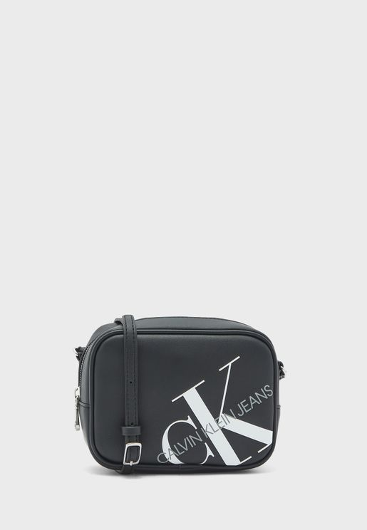 Logo Printed Top Zip Camera Bag