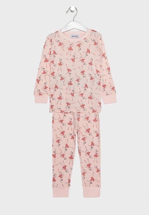 Ballet Dance Print Pyjama Set