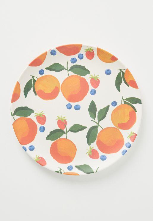 Fruit Melamine Dinner Plate - Orange