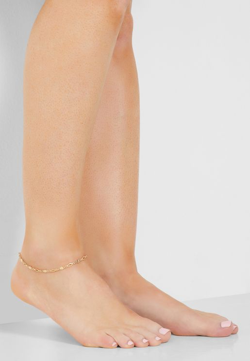Crystal Detail Anklet