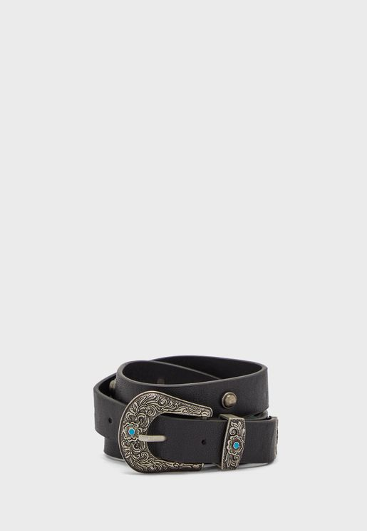 Nevada Turquoise Western Buckle Belt