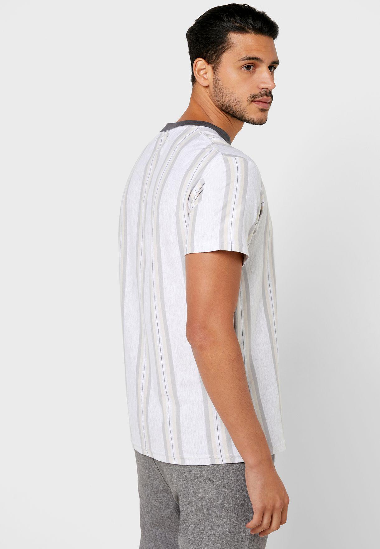 Downtown Striped Crew Neck T-Shirt
