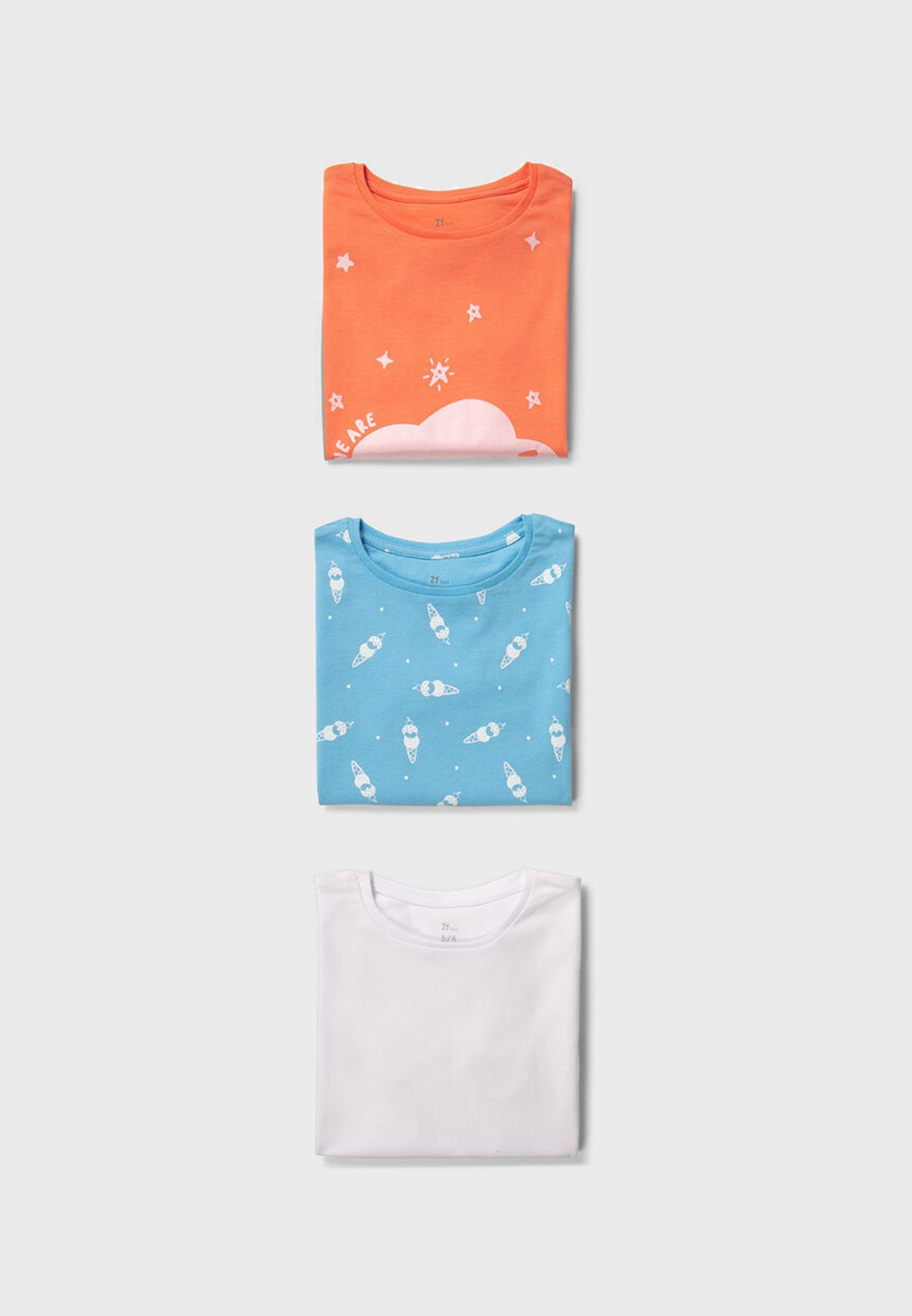 Kids 3 Pack Printed T-Shirt