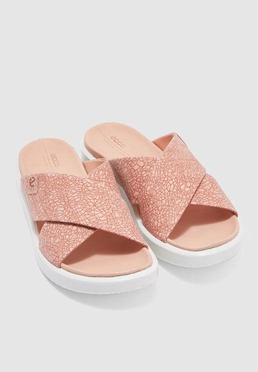 Flowt Cross Strap Sandal - Pink