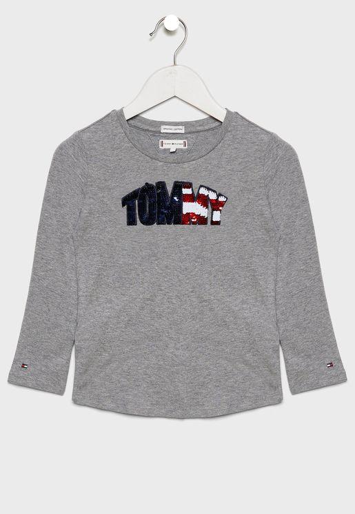 Kids Flip Sequins T-Shirt