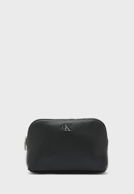 Logo Zip Closure Wallet