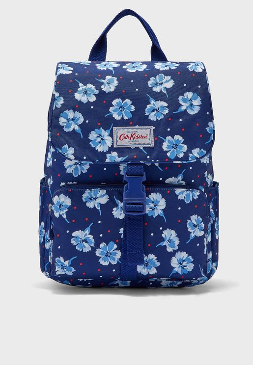 Fairfield Flowers Buckle Backpack