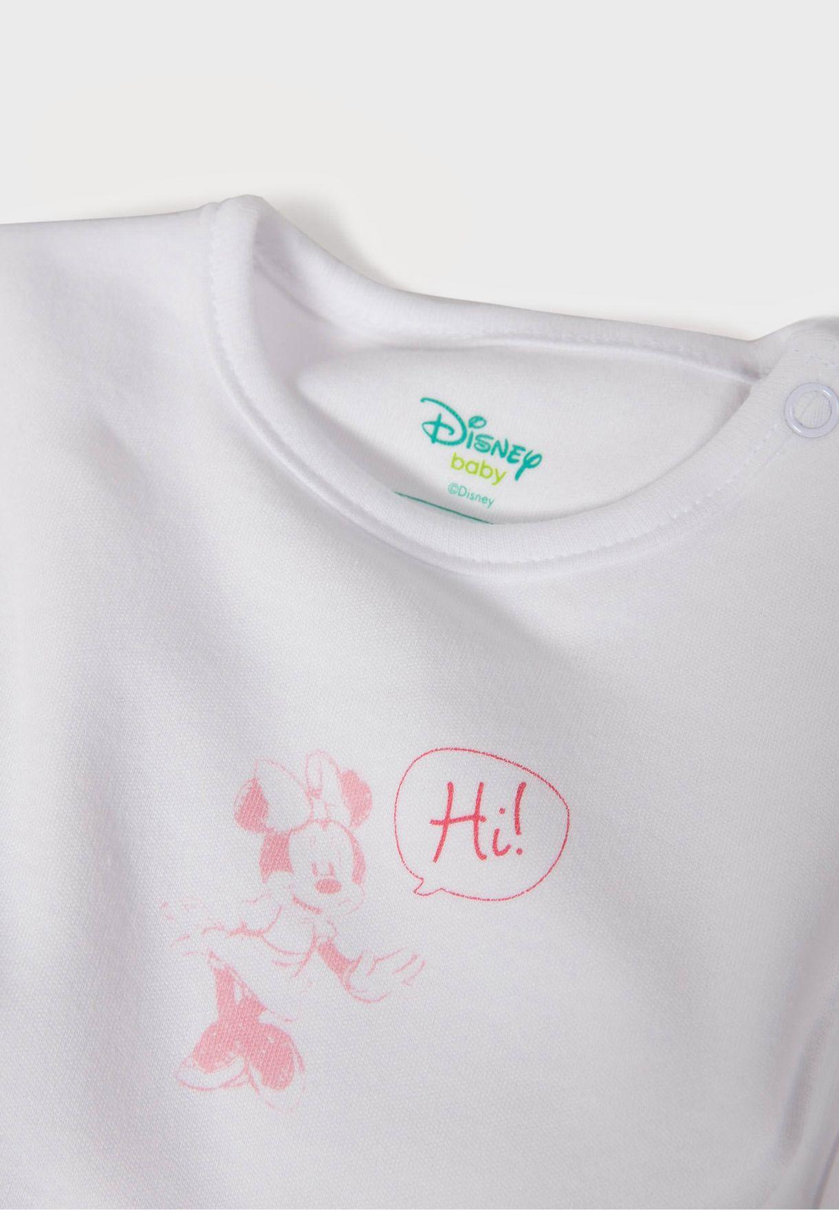 Infant 2 Pack Minnie Mouse Bodysuit
