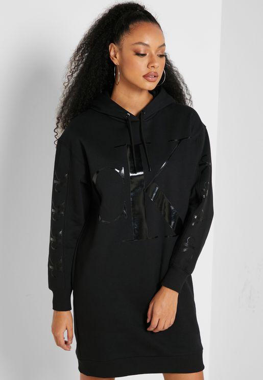 Hooded Logo Dress