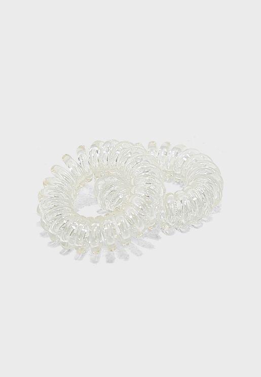 Ella Spiral 2-Pack Elastic Hair Tie