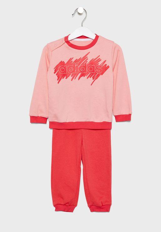 Infant Linear Sweatpants + T-Shirt Set