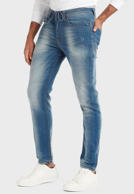 Distressed Jogg Jeans