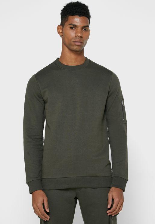 Half Zip Detail Sweatshirt