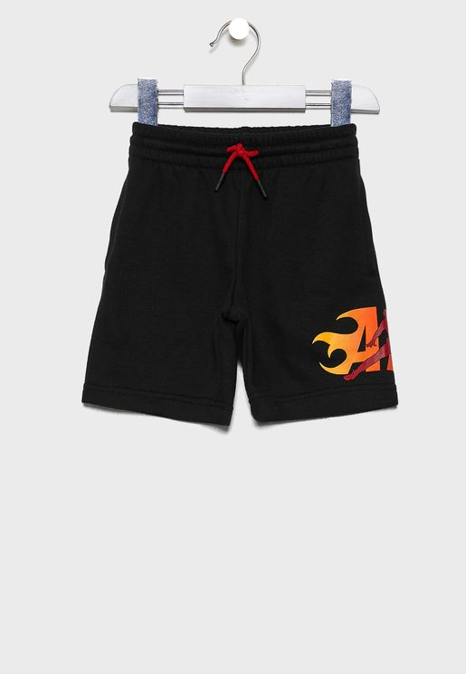 Kids Jordan Jumpman Fire Shorts