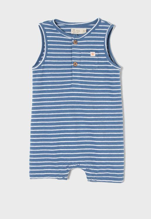 Infant Striped Romper