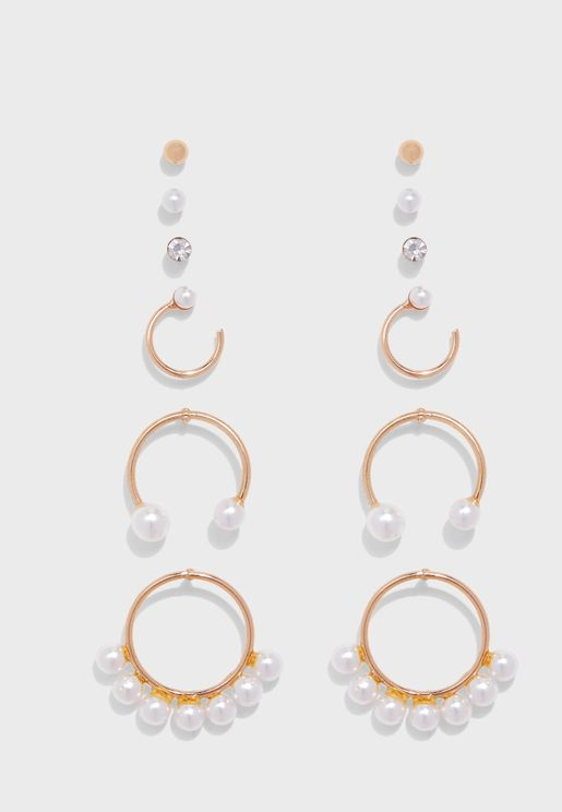 Cristallina Pierced Earrings Set