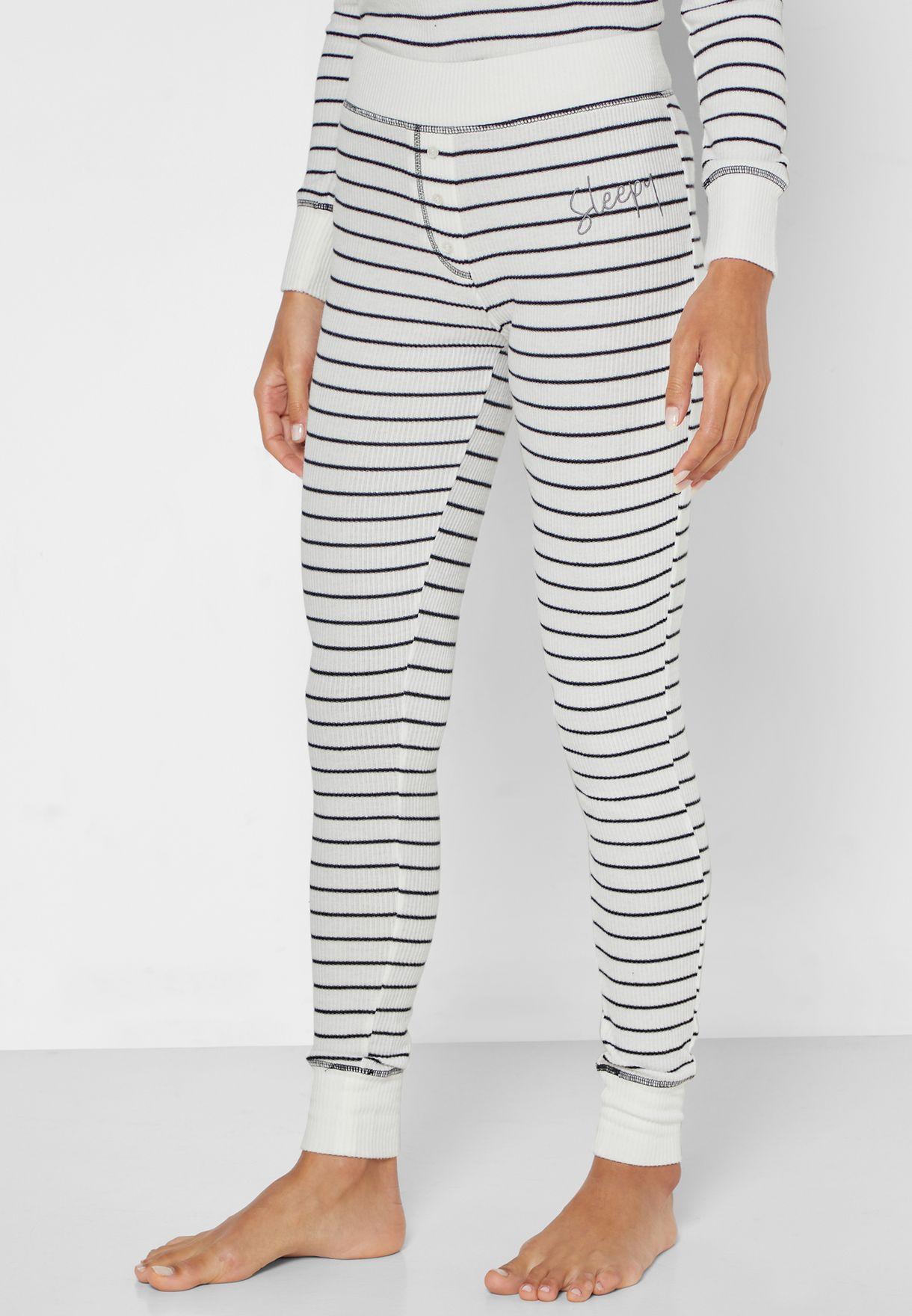 Striped T-Shirt & Leggings Set