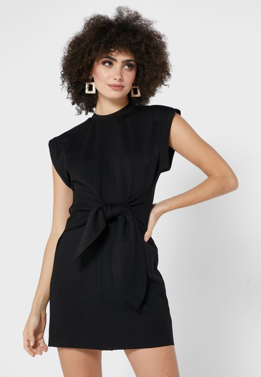 Nadia Belted Bodycon Dress