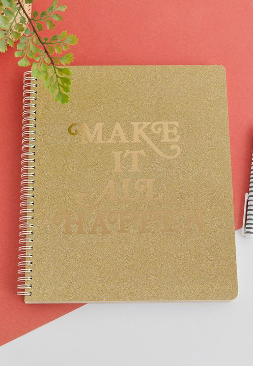 Large Rough Draft Notebook - Make It Happen