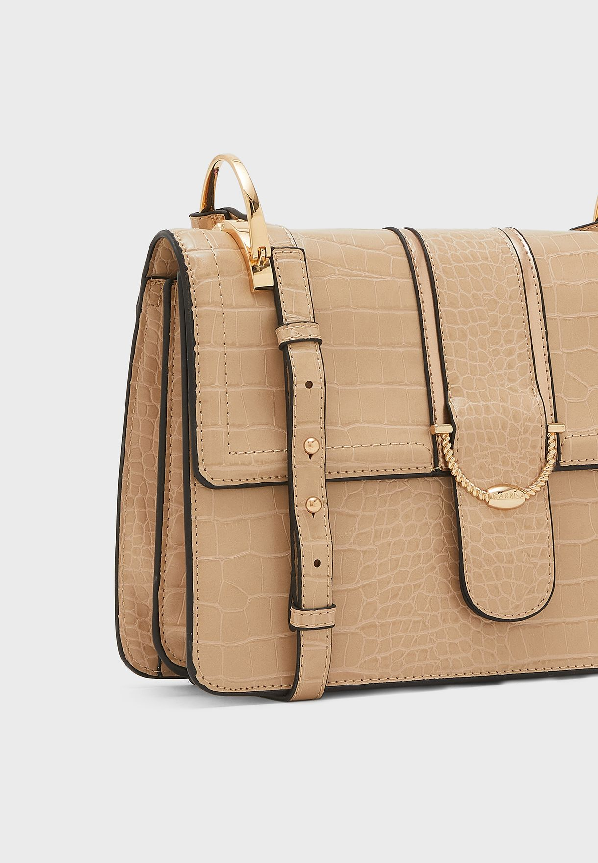 Belted Flap Over Crossbody