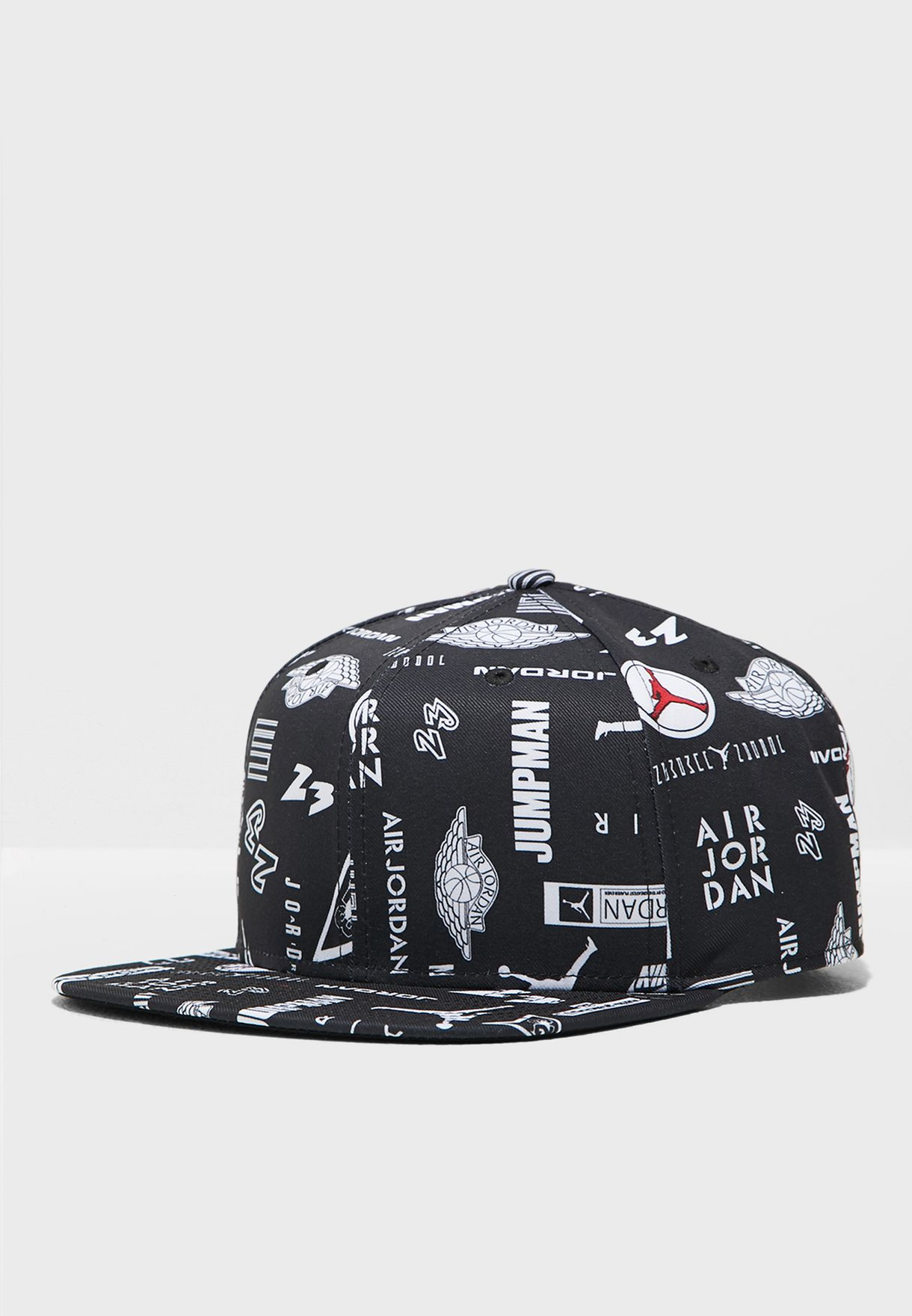 aadc4f1ac95 Shop Nike black Jordan Pro AOP Cap AV8443-010 for Men in UAE ...