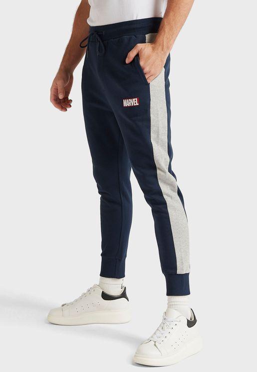 Marvel Logo Cuffed Sweatpants