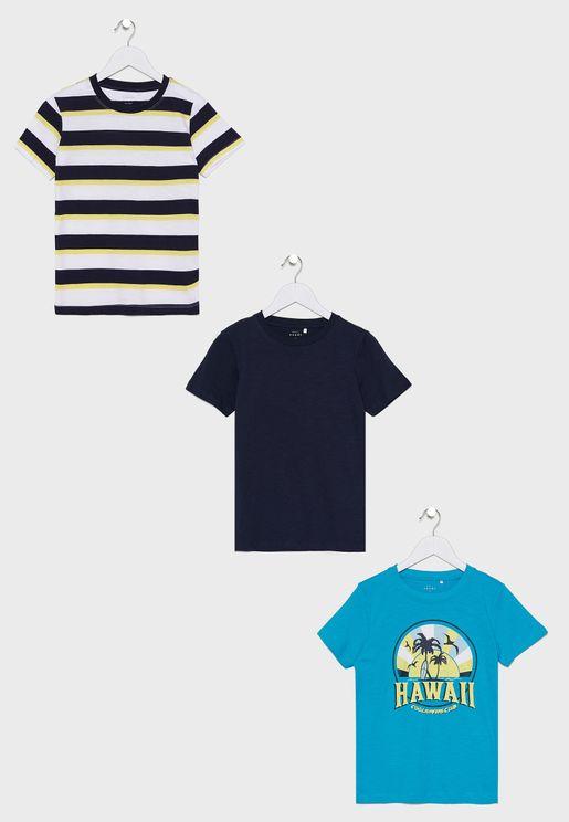 Kids 3 Pack T-Shirt