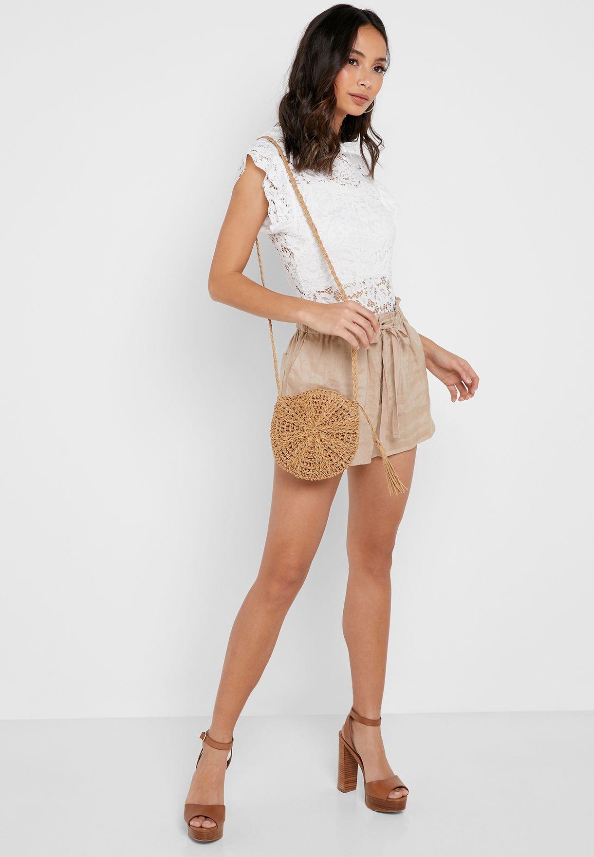 Ruffle Sleeve Lace Body