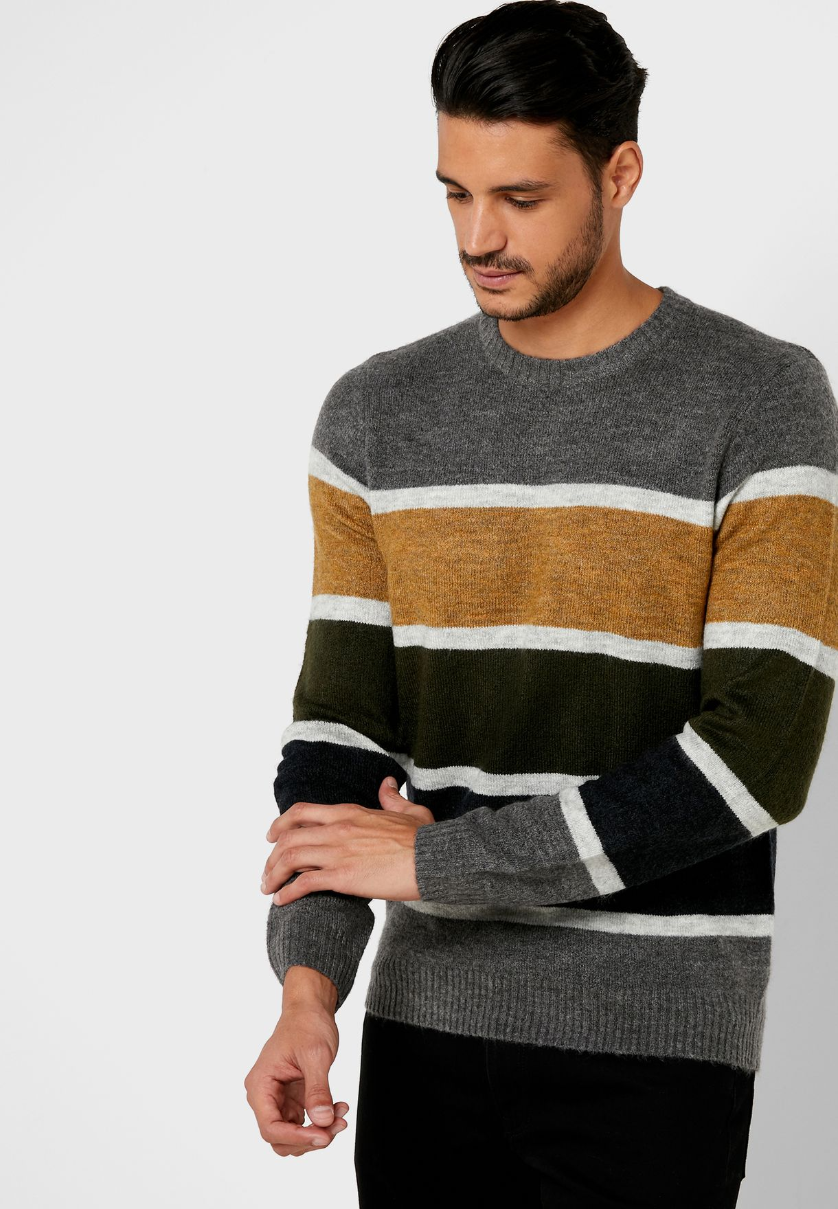 Bromsgrove Coloured Stripe  Sweater