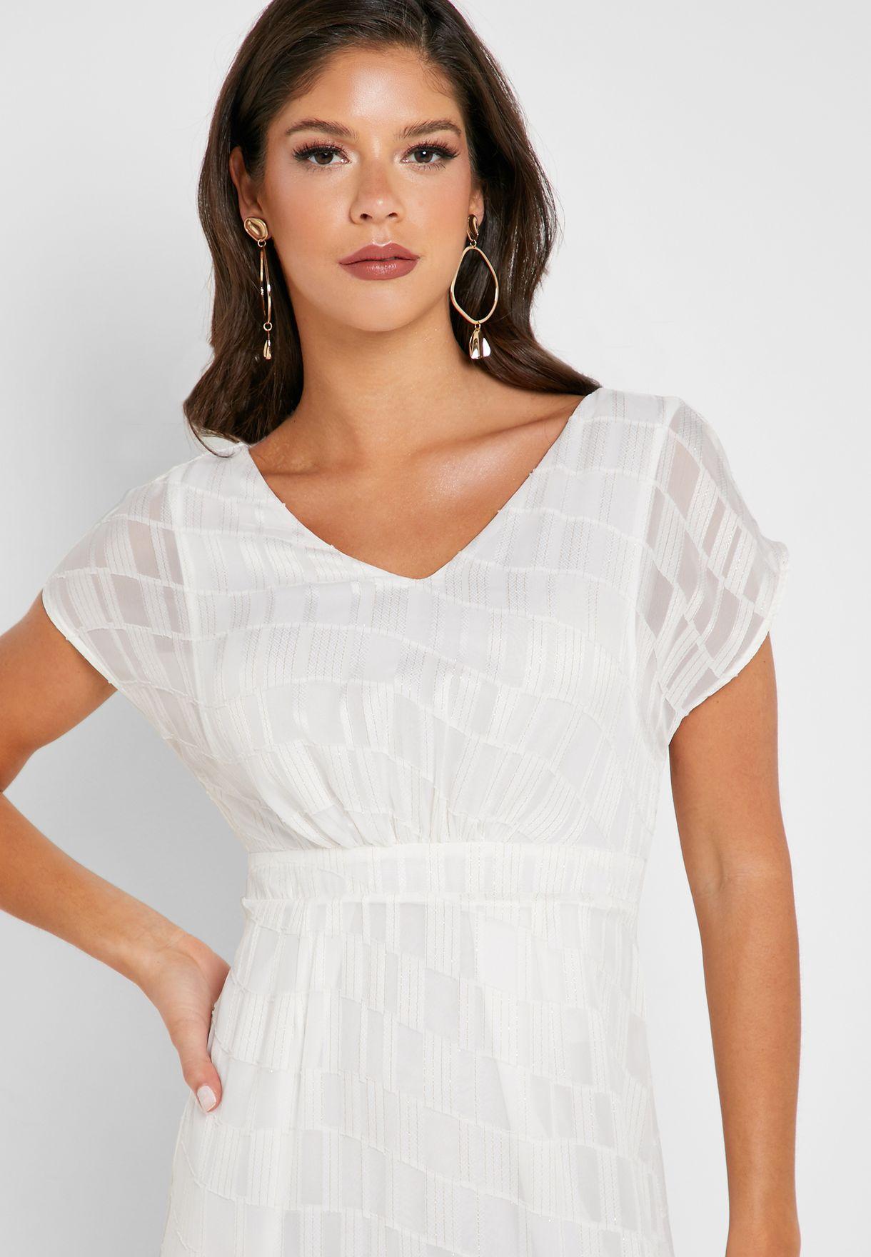 High Low Short Sleeve Dress