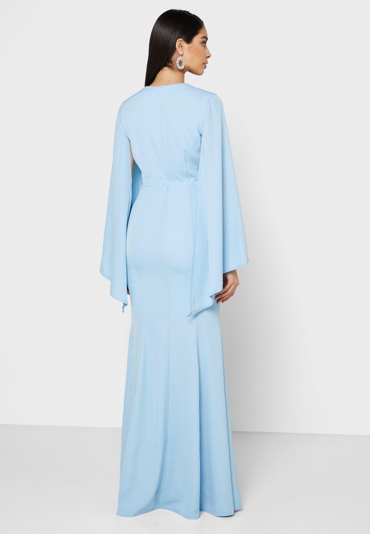 فستان ماكسي باكمام واسعة