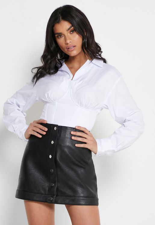 Placket Corset Shirt