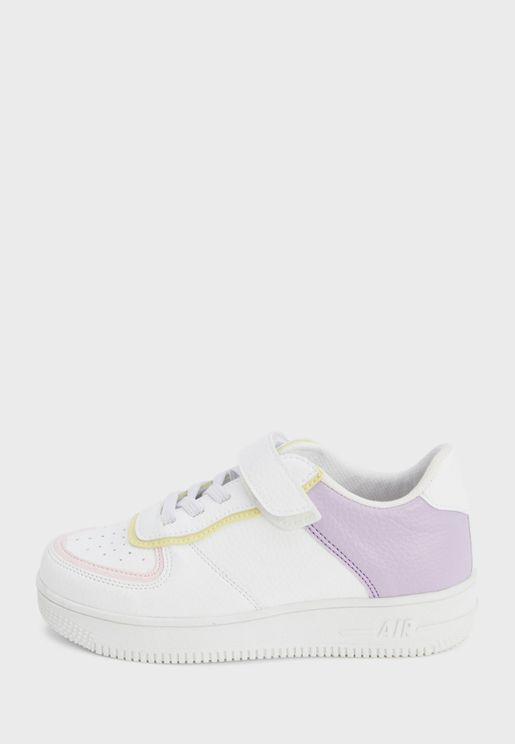 Youth Color Block Velcro Sneaker