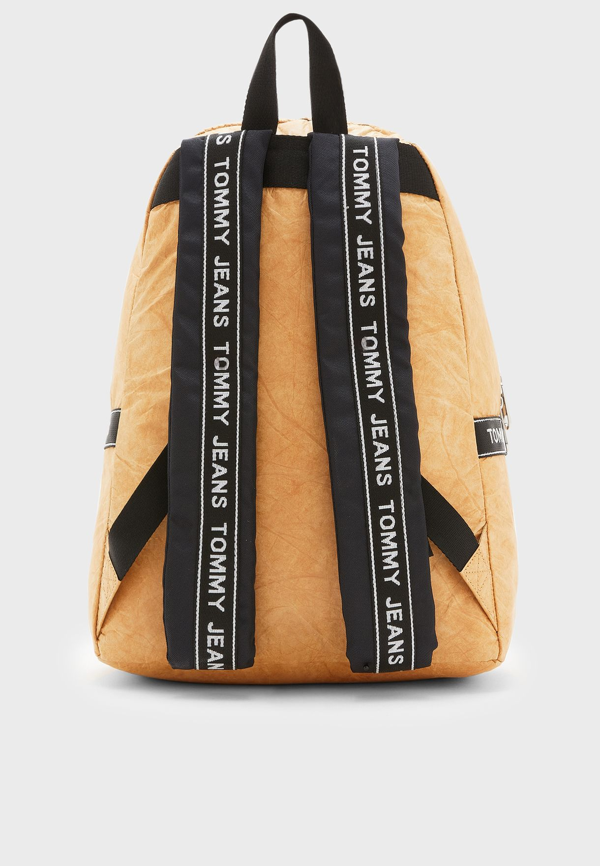 Logo Tape Coated Backpack