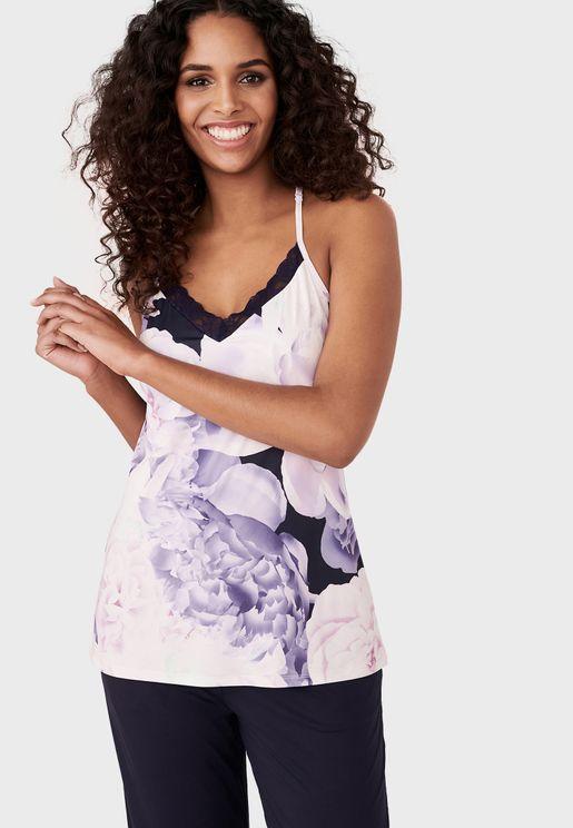 Floral Print Cami Top