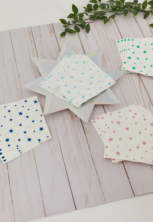 Metallic Foil Star Napkins