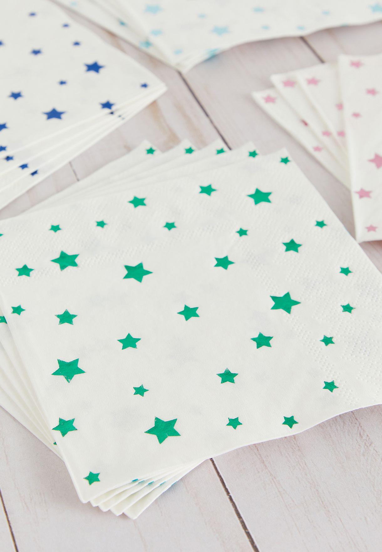 Metallic Foil Star Napkins