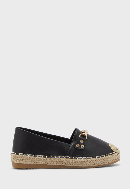 Chain And Pearl Detail Espadrille