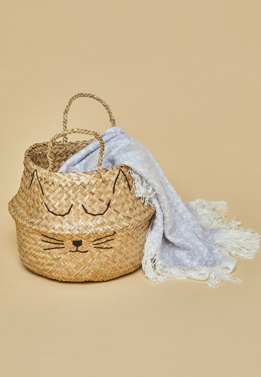 Cutie Cat Storage Basket