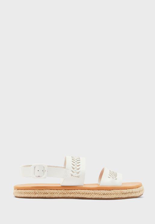 Woven Double Band Sandal