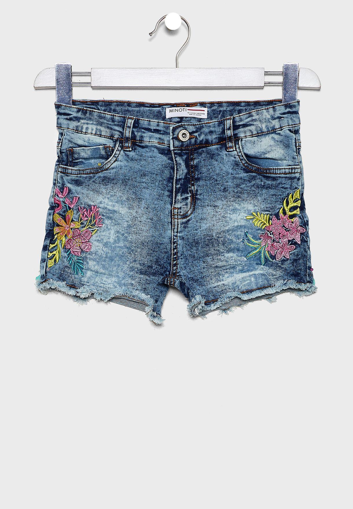 Teen Floral Shorts