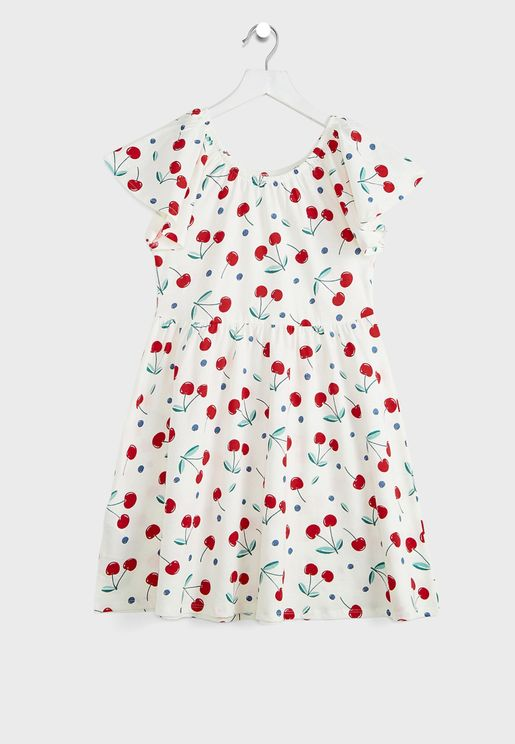 Kids Cherry Print Dress