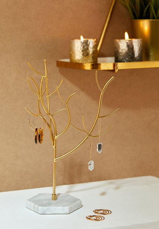حامل مجوهرات شكل شجرة