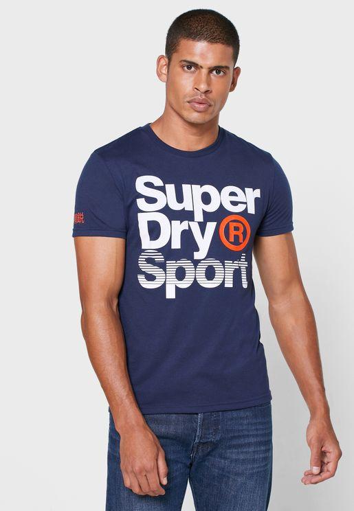 Core Sport Graphic Crew Neck T-Shirt
