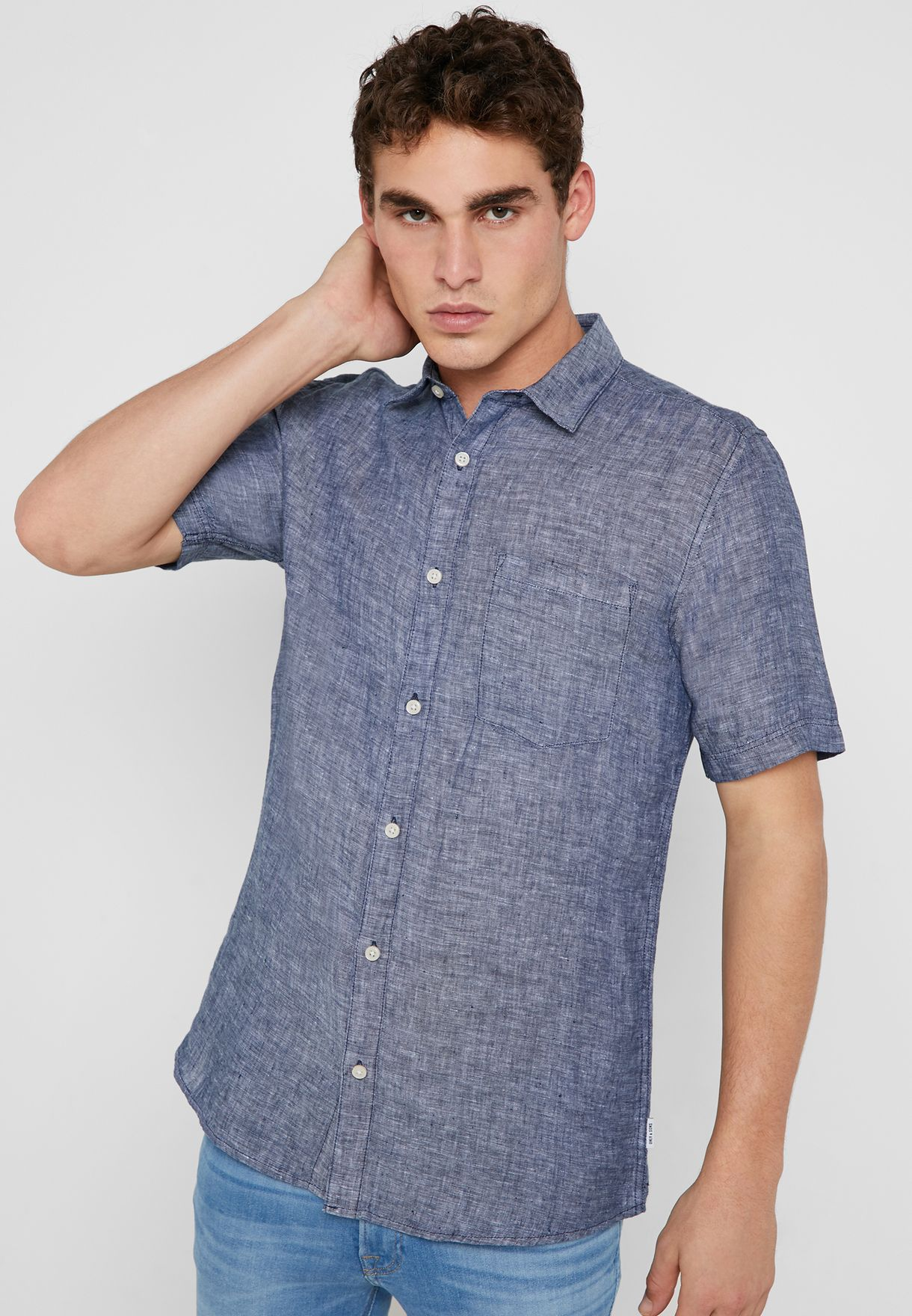 db4eb370ee3 Shop Only sons blue Luke Shirt 22013260 for Men in UAE - 16648AT95SUP