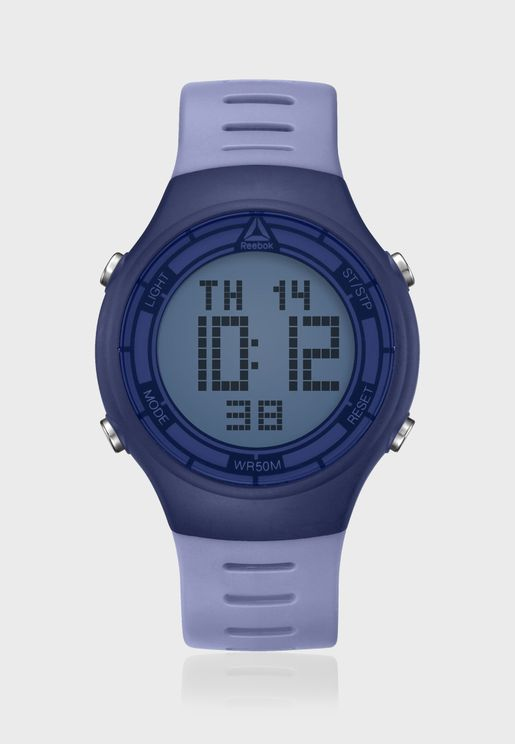 ساعة ديجيتال بحزام من السيليكون