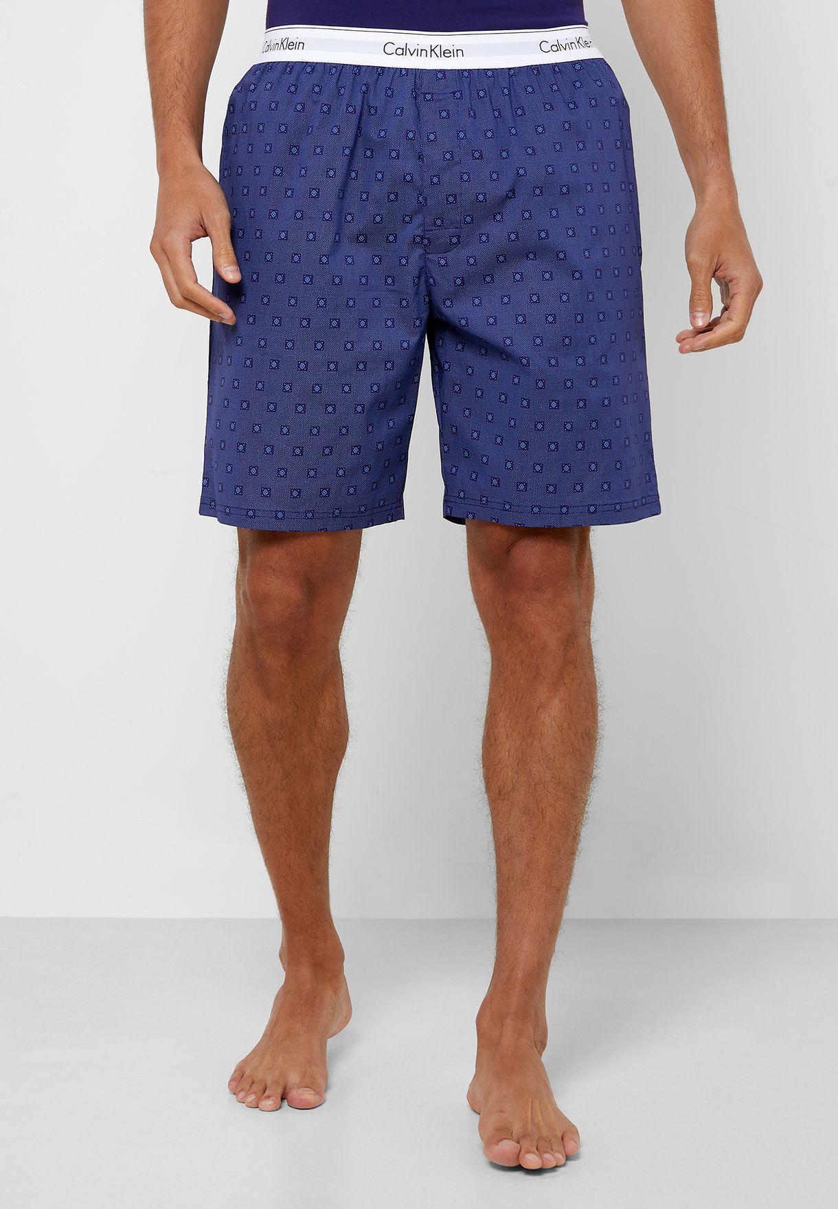 Logo T-Shirt & Printed Shorts Pyjama Set